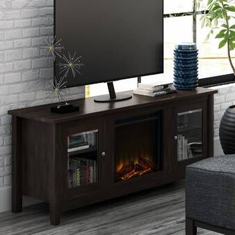 """Most Up To Date Grenier Tv Stands For Tvs Up To 65"""" Intended For Whittier Tv Stand For Tvs Up To 65"""" With Electric (View 6 of 10)"""