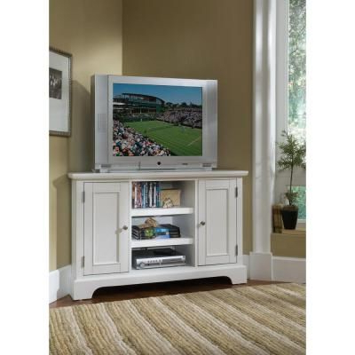 Most Up To Date Home Styles Naples White Corner Tv Stand 5530 07 At The For Sherbourne Oak Corner Tv Stands (View 4 of 10)