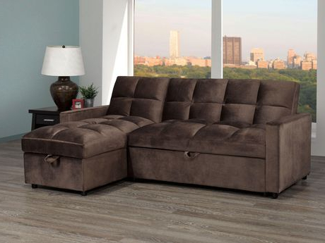 Most Up To Date Jayden Sectional With Pull Out Bed & Storage Chaise Regarding Liberty Sectional Futon Sofas With Storage (View 2 of 10)