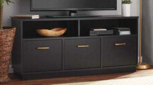Most Up To Date Mainstays 3 Door Tv Stands Console In Multiple Colors Pertaining To Mainstays 3 Door Tv Stand Console $99 (reg $125) Shipped (View 8 of 10)