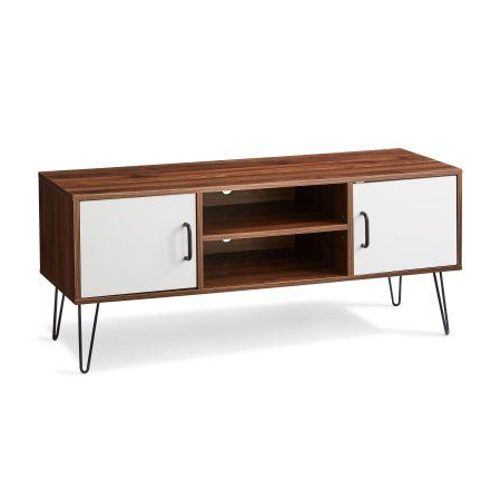 Most Up To Date Mainstays Mid Century Two Tone Tv Stand For Most 42Â Tvs In Mainstays Parsons Tv Stands With Multiple Finishes (View 6 of 10)