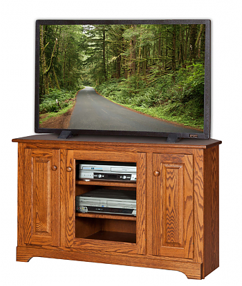 """Most Up To Date Oliver Wide Tv Stands Pertaining To 48"""" Wide Corner Tv Stand – Amish Furniture Connections (View 2 of 10)"""