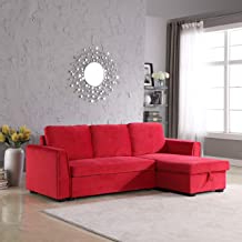Most Up To Date Setoril Modern Sectional Sofa Swith Chaise Woven Linen Regarding Amazon: Small Sectional Sleeper Sofa (View 4 of 10)