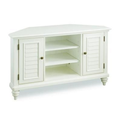 Naples Corner Tv Stands For Popular Home Basics Traditional Faux Wood White Interior Shutter (View 9 of 10)