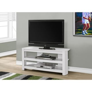 Naples Corner Tv Stands With Well Known White 46 Inch Corner Tv Stand & Media Console – Free (View 5 of 10)