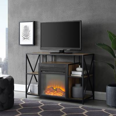 """Neilsen Tv Stands For Tvs Up To 50"""" With Fireplace Included With Regard To Recent Sunbury Tv Stand For Tvs Up To 60"""" With Electric Fireplace (View 8 of 10)"""
