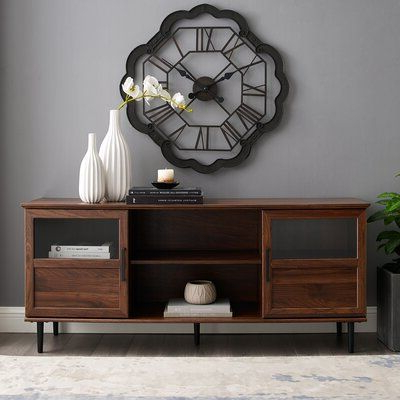 """Neilsen Tv Stands For Tvs Up To 65"""" Inside Most Recently Released Gracie Oaks Grossi Tv Stand For Tvs Up To 65"""" Color: Slate (View 8 of 10)"""