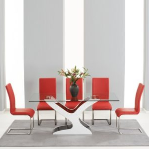 Newbury Black Gloss And Glass Dining Table 6 With Milan Regarding Current Milan Glass Tv Stands (View 7 of 10)