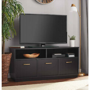 """Newest 57'' Led Tv Stands With Rgb Led Light And Glass Shelves Pertaining To Tv Stand Console W/ 3 Door Storage Dvd Drawer Fits 50"""" Tv (View 2 of 10)"""