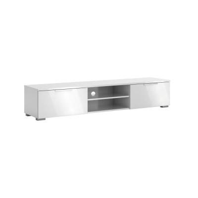 Newest 57'' Led Tv Stands With Rgb Led Light And Glass Shelves Within White – Tv Stands – Living Room Furniture – The Home Depot (View 1 of 10)