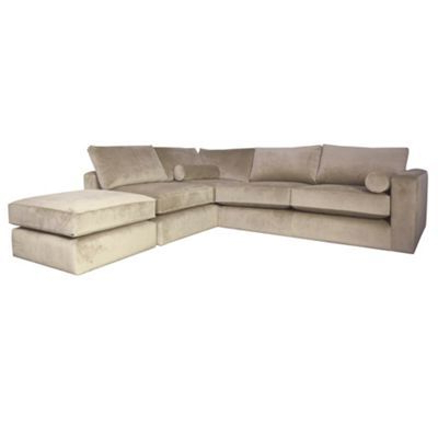 Newest Dulce Right Sectional Sofas Twill Stone With Regard To Debenhams Stone Coloured 'goodwood' Right Hand Facing (View 10 of 10)