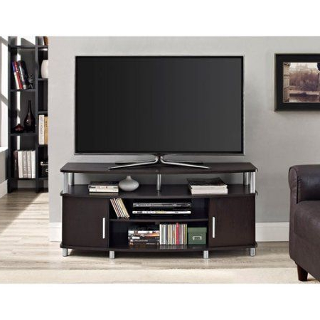 """Newest Mainstays 3 Door Tv Stands Console In Multiple Colors Throughout Carson Tv Stand, For Tvs Up To 50"""", Multiple Finishes (View 1 of 10)"""