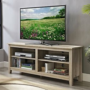 """Newest Natural Wood Tv Stand Fits 60 Inch Tv Entertainment Throughout Hal Tv Stands For Tvs Up To 60"""" (View 5 of 10)"""