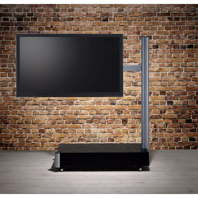 Newest Randal Symple Stuff Black Swivel Floor Tv Stands With Shelving For Symple Stuff Sowards Black/silver Swivel Floor Stand Mount (View 4 of 10)