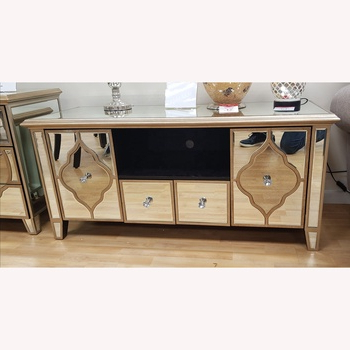 Newest Simple Luxury Home Furniture Mirrored Tv Unit Tv Stand Regarding Loren Mirrored Wide Tv Unit Stands (View 10 of 10)
