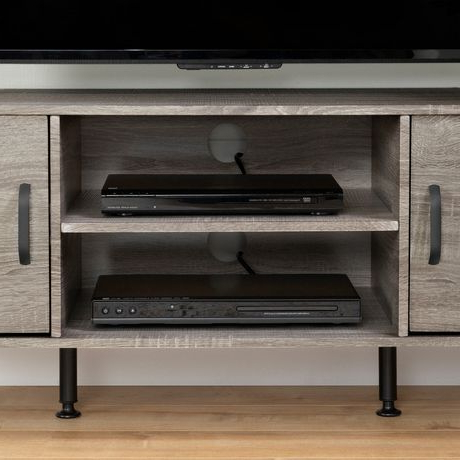 Newest South Shore Evane Tv Stand With Doors For Tvs Up To 55 Within South Shore Evane Tv Stands With Doors In Oak Camel (View 3 of 10)