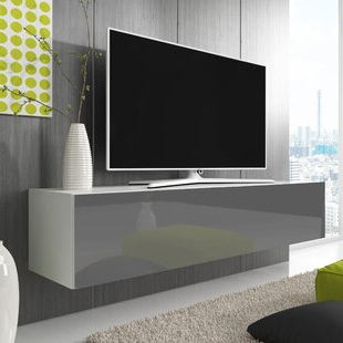 Newest Tv Stands With 2 Open Shelves 2 Drawers High Gloss Tv Unis Regarding White Tv Stands & Entertainment Units (View 1 of 10)