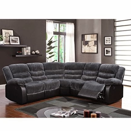 Noa Sectional Sofas With Ottoman Gray Pertaining To Most Up To Date The Best Reclining Sofas Ratings Reviews: Blue Reclining Couch (View 1 of 10)