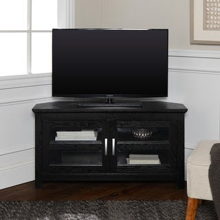 Norman Metal/glass Corner Tv Stand – Black – On Sale Intended For Current Conrad Metal/glass Corner Tv Stands (View 10 of 10)