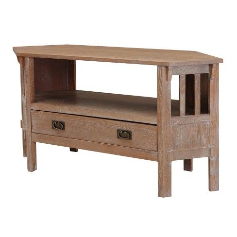 Oak Tv Regarding Most Up To Date Corona White Corner Tv Unit Stands (View 8 of 10)