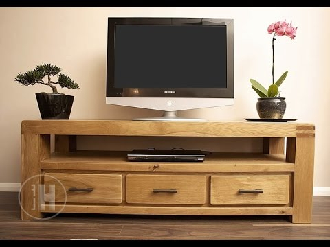 Oak Tv Units And Media Cabinets – Youtube Regarding Current Dillon Oak Extra Wide Tv Stands (View 7 of 10)