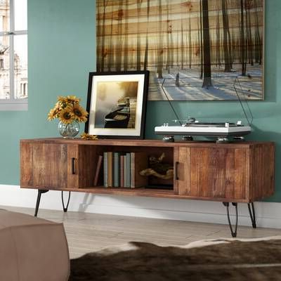 Orren Ellis Priebe Entertainment Center For Tvs Up To 75 Inside Most Recently Released Tiva Oak Ladder Tv Stands (View 5 of 10)