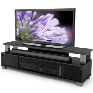 Overstock: Online Shopping – Bedding, Furniture Throughout Current 57'' Tv Stands With Open Glass Shelves Gray & Black Finsh (View 9 of 10)