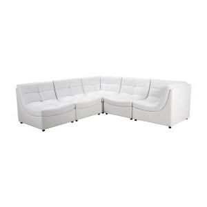 Paul Modular Sectional Sofas Blue Intended For 2017 Stacey Leather 6 Piece Modular Sectional Sofa (View 9 of 10)