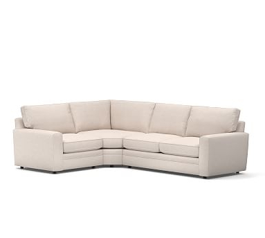Pearce Roll Arm Upholstered 3 Piece Sectional With Wedge Intended For Current Dulce Right Sectional Sofas Twill Stone (View 5 of 10)