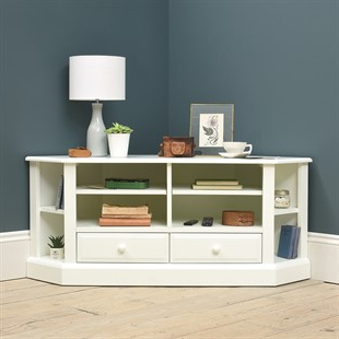 Penelope Dove Grey Tv Stands Inside 2018 Corner Tv Stands & Tv Units – Stunning Oak, Pine & Painted (View 3 of 10)