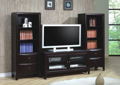 Petter Tv Media Stands Pertaining To 2017 Cappuccino Finish Contemporary Tv Stand W/optional Media (View 6 of 10)