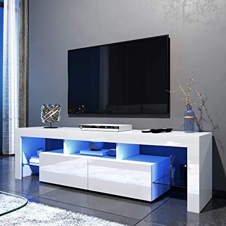Polar Led Tv Stands Inside Preferred For Living Room And Bedroom With Storage Furniture Elegant (View 2 of 10)