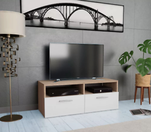 Popular Bromley White Wide Tv Stands Throughout Small Oak Tv Stand Modern White Television Cabinet Media (View 9 of 10)