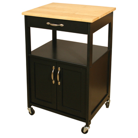 Popular Catskill Craftsmen Utility & Wide Cuisine Kitchen Cart Within Modern Black Tv Stands On Wheels With Metal Cart (View 1 of 10)