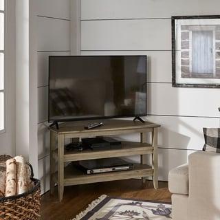Popular Conrad Metal/glass Corner Tv Stands Intended For Shop Harper Blvd Jensen Metal/glass Corner Tv Stand – Free (View 7 of 10)