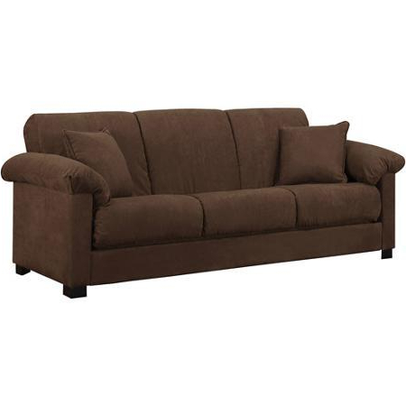 Popular Convertible Futon Sofa Bed For Small Space Living Room With Regard To Easton Small Space Sectional Futon Sofas (View 7 of 10)
