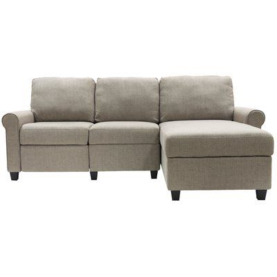 """Popular Copenhagen Reclining Sectional Sofas With Right Storage Chaise Throughout Serta At Home Copenhagen 89"""" Wide Reclining Sofa & Chaise (View 2 of 10)"""