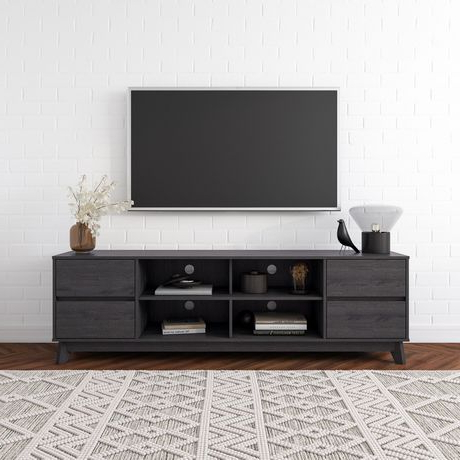 """Popular Corliving Hollywood Wood Grain Tv Stand With Drawers For Regarding Bustillos Tv Stands For Tvs Up To 85"""" (View 2 of 10)"""