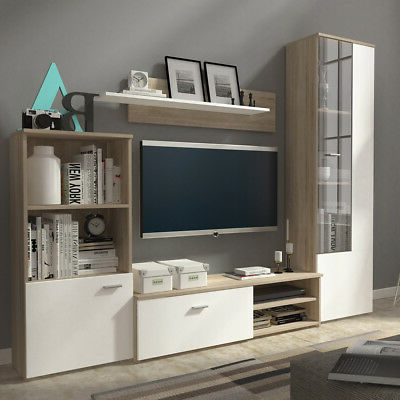 Popular Living Room Furniture Set Tv Unit Cabinet Glass Display In 57'' Tv Stands With Led Lights Modern Entertainment Center (View 9 of 10)