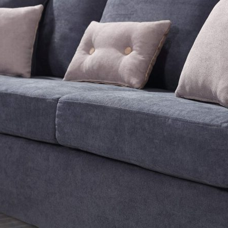 Popular Polyfiber Linen Fabric Sectional Sofas Dark Gray Throughout Convertible Sectional Sofa Couch, L Shaped Couch With (View 1 of 10)