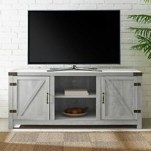 Popular Rustic Stone Gray Entertainment Center 65 Inch Tv Stand Inside Dark Brown Tv Cabinets With 2 Sliding Doors And Drawer (View 3 of 10)