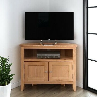 Popular Tribeca Oak Tv Media Stand With Regard To Small Oak Corner Tv Stand (View 6 of 10)