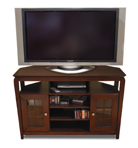 """Preferred 46"""" Wide Walnut Or Black Wood Veneer Finish """"tall Boy Pertaining To Antea Tv Stands For Tvs Up To 48"""" (View 3 of 10)"""