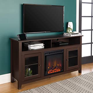 """Preferred Amazon: Electric Fireplace Cherry: Home & Kitchen Intended For Del Mar 50"""" Corner Tv Stands White And Gray (View 4 of 10)"""