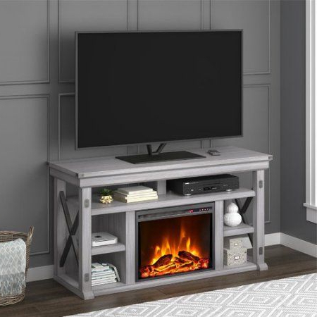Preferred Ameriwood Home Carson Tv Stands With Multiple Finishes With Regard To Ameriwood Home Wildwood Fireplace Tv Stand For Tvs Up To (View 1 of 10)