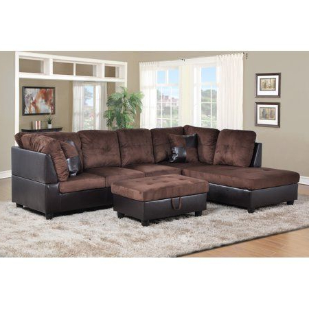 Preferred Hermann Left Chaise Sectional Sofa With Storage Ottoman Inside 3pc Faux Leather Sectional Sofas Brown (View 1 of 10)