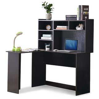 Preferred Shop Mcombo Modern Computer Desk With Hutch L Shaped Throughout Space Saving Gaming Storage Tv Stands (View 5 of 10)