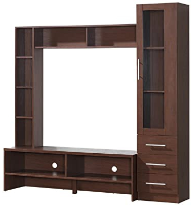 Preferred Tiva White Ladder Tv Stands With Regard To Amazon: Homcom Leaning Ladder Bookcase/entertainment (View 5 of 10)