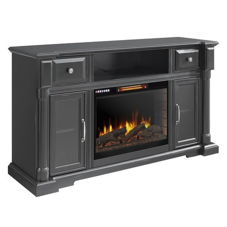 Preferred Vermont 60 Inch Media Electric Fireplace With Bluetooth For Fireplace Media Console Tv Stands With Weathered Finish (View 8 of 10)