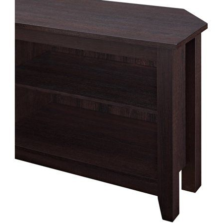 Preferred Woven Paths Transitional Corner Tv Stands With Multiple Finishes In Woven Paths Transitional Corner Tv Stand For Tvs Up To  (View 1 of 10)